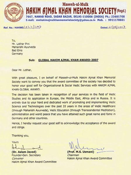 Die Begründung zum Global Award