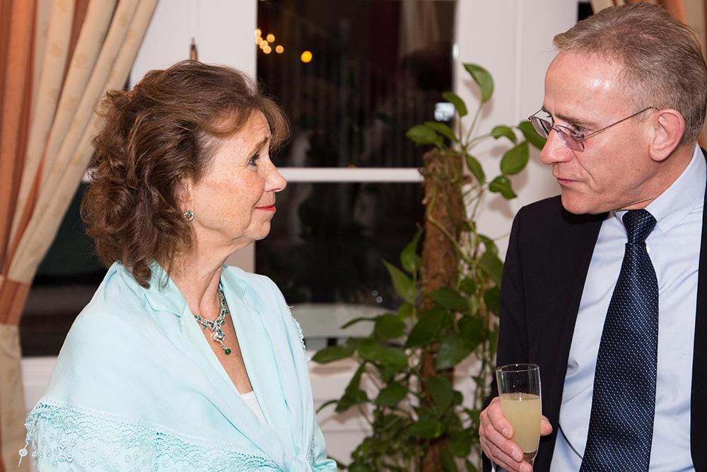 Dr. Pirc im Gespräch mit Reinhard Hoppe