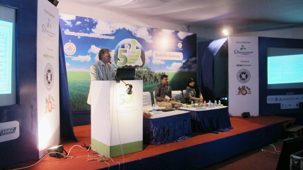 Vortrag auf dem World Ayurveda Kongress in Bhopal