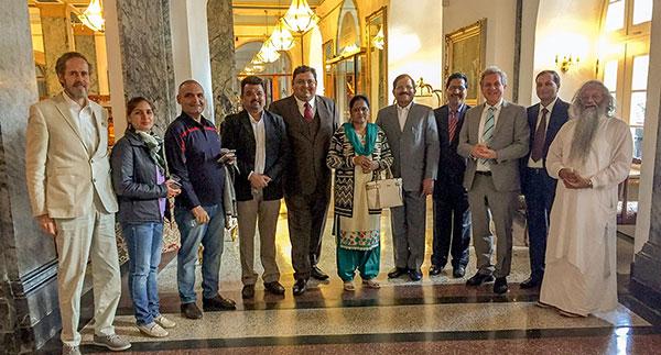 Der indische Minister für Ayurveda und Yoga, Shripad Yesso Naik besucht Bad Ems