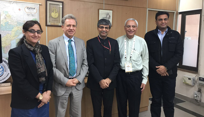 Dr. Pooja Sabharwal, Lothar Pirc,Vaidya Rajesh Kotecha,Staatssekretär im AYUSH Ministerium,Sudhir Bagga MD, MBA, ABIHM,Lawrence G Schull MD